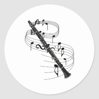 Clarinet Classic Round Sticker