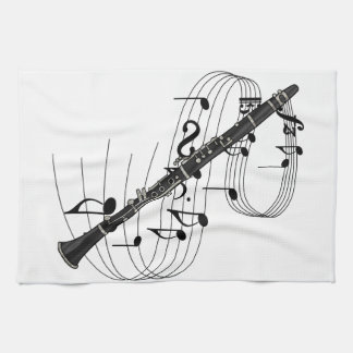 Clarinet Tea Towel