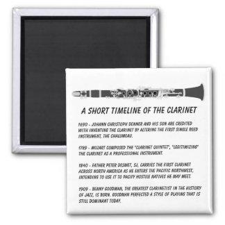 Clarinet Timeline Square Magnet