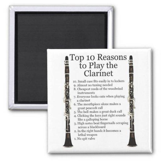 Clarinet Top 10 Fridge Magnets