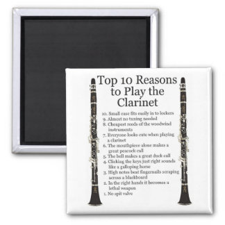 Clarinet Top 10 Square Magnet