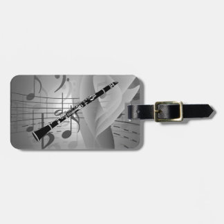 Clarinet with Musical Accents Bag Tags