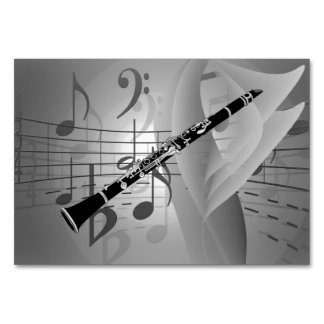 Clarinet with Musical Accents Card