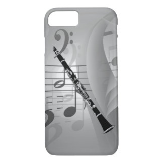 Clarinet with Musical Accents iPhone 7 Case