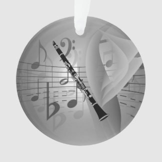 Clarinet with Musical Accents Ornament
