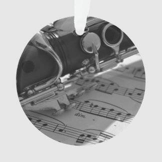 Clarinet with Sheet Music Ornament