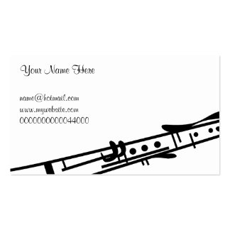 Clarinet, Your Name Here, Pack Of Standard Business Cards