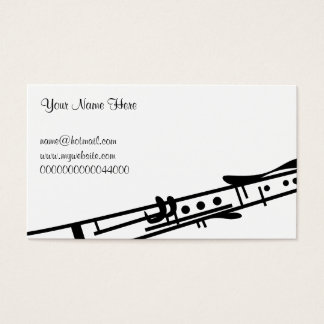 Clarinet, Your Name Here, Business Card