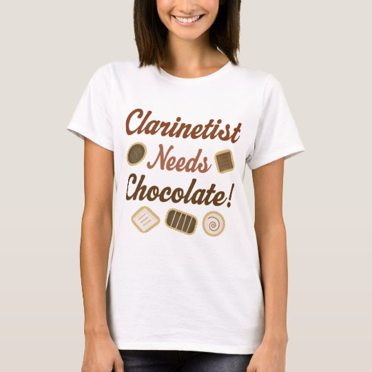 Clarinetist Chocolate T-Shirt