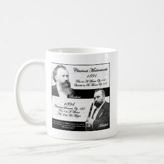 Clarinetist Mühlfeld inspired Brahms Basic White Mug