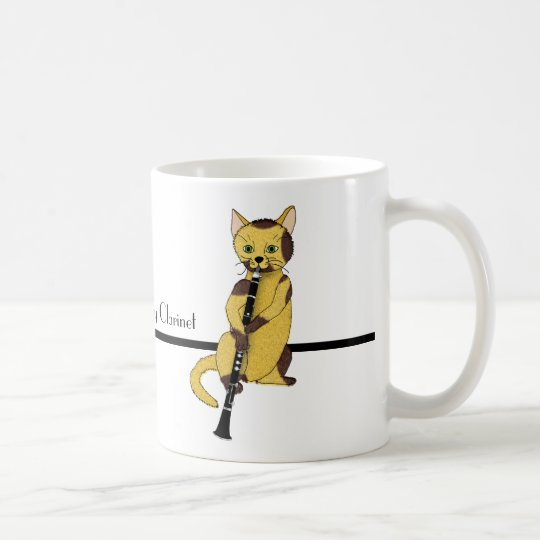 Clarinets Are Played by Cool Cats Coffee Mug