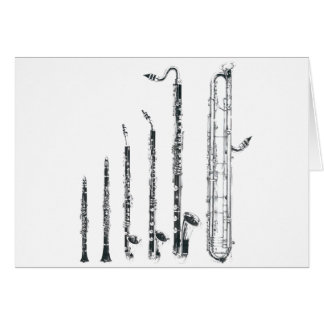 clarinets greeting card