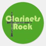 Clarinets Rock Round Sticker