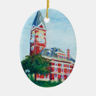 Clarion Courthouse Painting Ceramic Oval Decoration