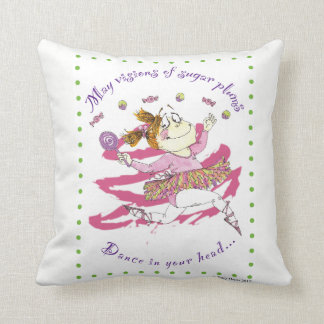 Clarisse ballerina throw pillow