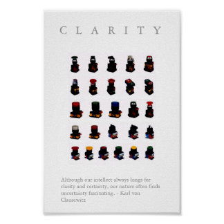 """CLARITY - Motivational """"Button"""" Print w. quote"""