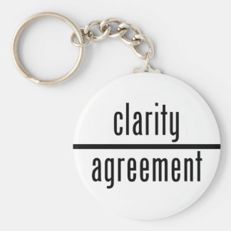 Clarity Over Agreement Round Key Chain