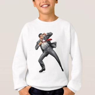 Clark changes into Superman Sweatshirt