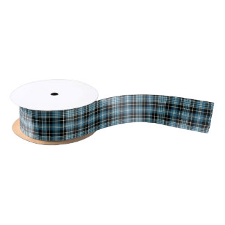 Clark Clan Tartan Satin Ribbon