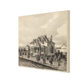 Clark Residence, Wallace, Kansas Canvas Print