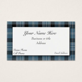 Clark Scottish Tartan Plaid Business Card