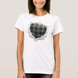 Clark Tartan Heart T-Shirt