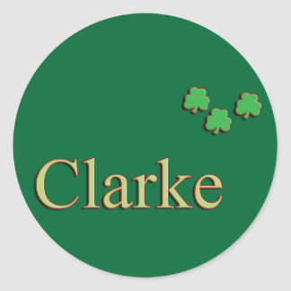 Clarke Family Round Sticker