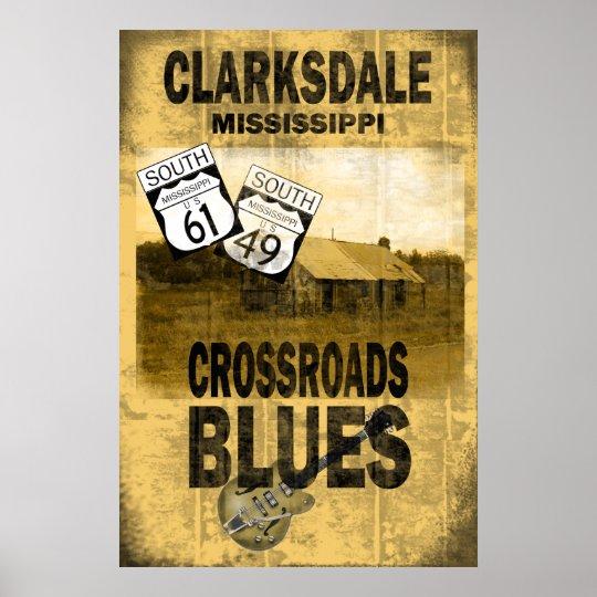 Clarksdale Mississippi Blues Poster