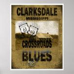 Clarksdale Mississippi Crossroads Blues Guitar Poster