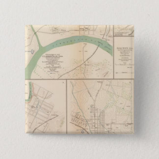 Clarksville, Tenn, Dalton, Ga 15 Cm Square Badge