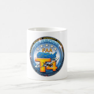 Clasic white with FAA/Parsons Logo Coffee Mug
