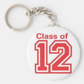 class12 basic round button key ring