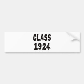 Class 1924 bumper sticker
