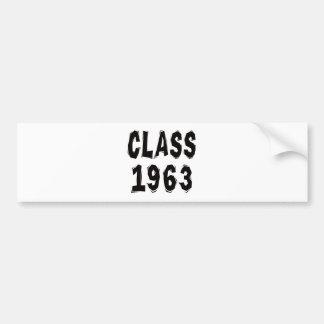 Class 1963 bumper stickers