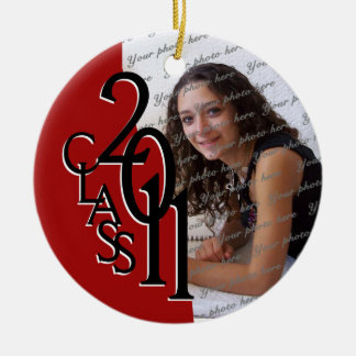 Class 2011 Graduation Photo Christmas Ornament