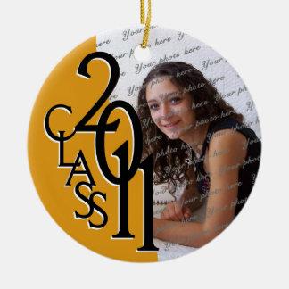 Class 2011 Graduation Photo Christmas Ornament