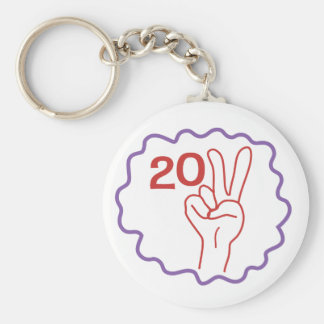 Class 2011 Peace Sign Basic Round Button Key Ring
