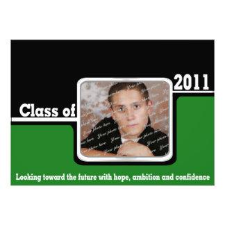 Class 2011 Photo/ Green Personalized Invite