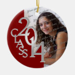 Class 2014 Graduation Photo Red and Silver Ornaments