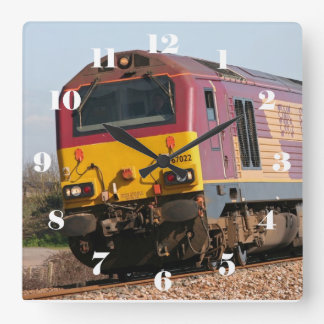 Class 67 diesel 67022 - all numbers square wall clock
