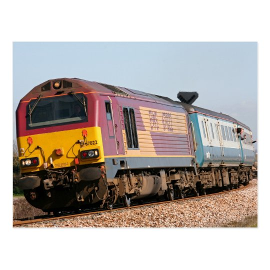 Class 67 diesel loco 67022 at Dawlish Warren