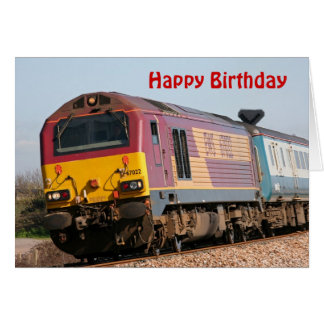 Class 67 diesel loco 67022  Happy Birthday Card