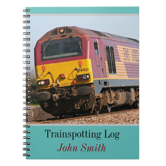 Class 67 diesel trainspotting log personalised notebooks