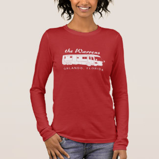 Class A Motorhome / Bus Silhouette Graphic Long Sleeve T-Shirt