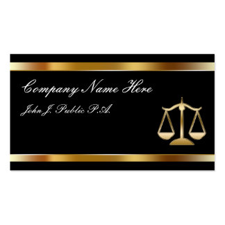 Class Attorney Business Cards