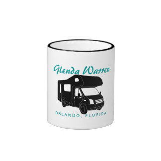 Class C Motorhome Silhouette Graphic Mug