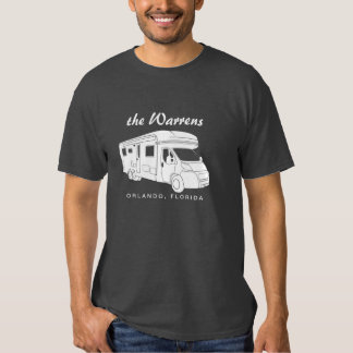 Class C Motorhome Silhouette Graphic Tee Shirts