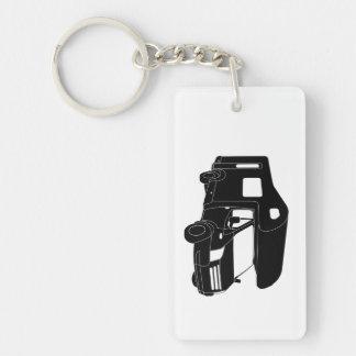 Class C Motorhome Silhouette on Keychain