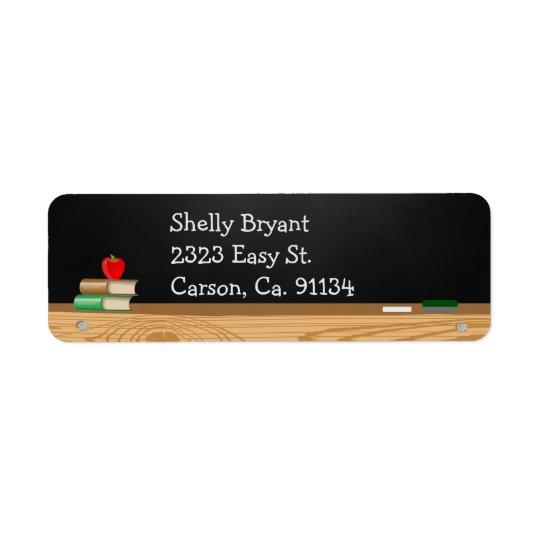 Class Dismissed Chalkboard Teacher Retirement Return Address Label