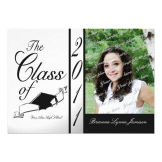 Class Graduation 2011 Black and white Announcements